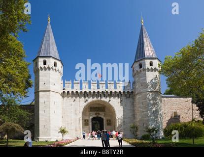 Entrance Topkapi Palace Gate of Salutation Istanbul Turkey - Stock Photo