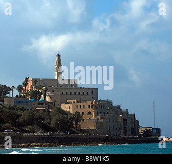 Israel Jaffa as seen from the North the old port can be seen on the left side - Stock Photo