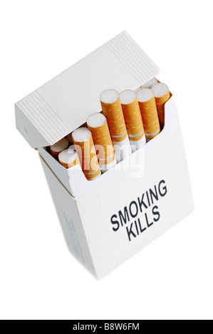 Cigarette Packet Cut Out - Stock Photo