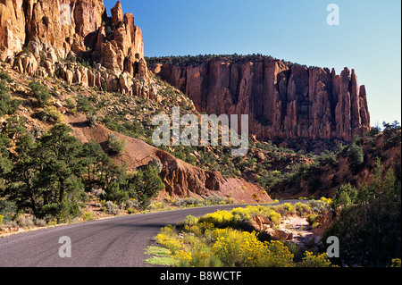 USA, Utah, Grand Staircase-Escalante National Monument. Burr Trail road in the Circle Cliffs. - Stock Photo