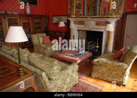 Interior of Bantry House, it is a stately home overlooking Bantry Bay in the south west of Ireland - Stock Photo