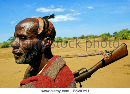 gamo gofa, man hammer, etiopia, africa - Stock Photo