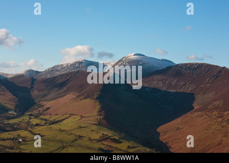 Crag Hill from Cat Bells above Newlands valley, Lake District, England, UK - Stock Photo