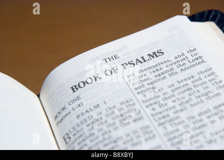 PSALMS chapter of the Holy bible - Stock Photo