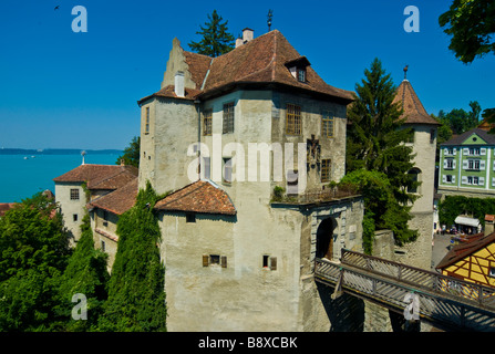 Castle Meersburg historic old town Lake Constance Baden Wuerttemberg Germany | Meersburg historische Altstadt und - Stock Photo