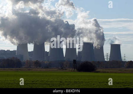 The brown coal-fired power station in Jaenschwalde, Germany - Stock Photo