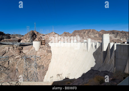 The Hoover Dam, Arizona/Nevada state border, USA - Stock Photo