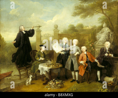 THE HERVEY CONVERSATION PIECE by William Hogarth 1697 1764 from Ickworth Photographed in March 1994 - Stock Photo