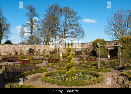 Rose Garden at Sewerby Hall, 'East Riding' of Yorkshire, England, 'Great Britain' UK EU - Stock Photo
