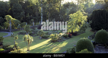 ... A View Overlooking The Italian Garden At Mount Stewart With The Spanish  Garden   Stock Photo
