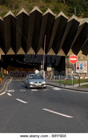 Chamonix: Mont Blanc Tunnel entrance - Stock Photo