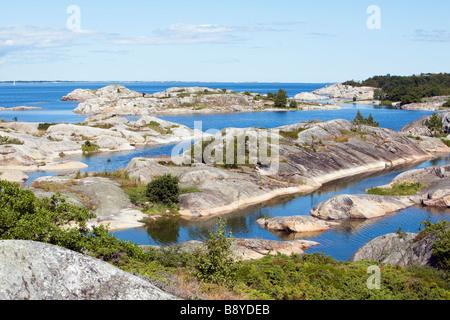 Rocks in the Stockholm archipelago Sweden. - Stock Photo