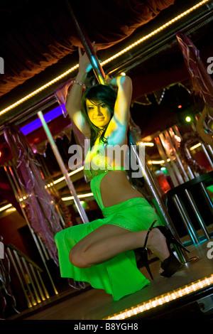 'lap dancer' 'pole dancer' 'strip club' stripper - Stock Photo