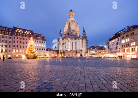 Church of our lady Frauenkirche Dresden Saxony Germany - Stock Photo