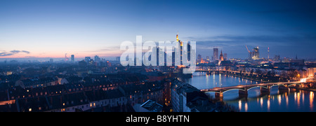 City Skyline Frankfurt Am Main Hessen Germany - Stock Photo