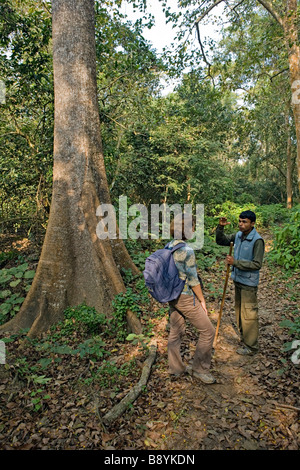 Guided tour in Royal Chitwan National Park Sauraha Nepal - Stock Photo