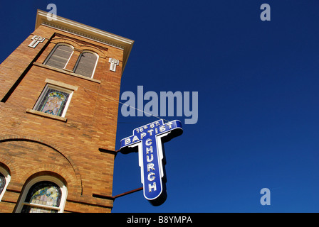 Sixteenth Street Baptist Church, Birmingham, Alabama, United States of America, North America - Stock Photo