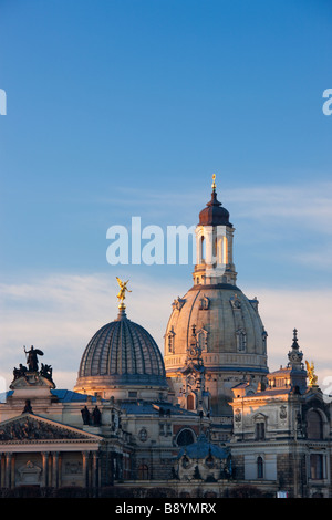 Dome of the Frauenkirche Dresden Saxony Germany - Stock Photo