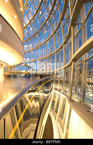 Inside The Sage Gateshead, Norman Foster's stunning music centre on the banks of the River Tyne. - Stock Photo