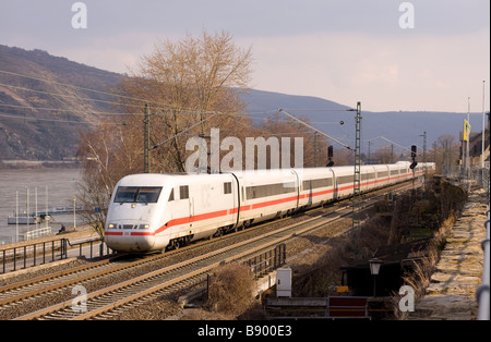 DB Bahn Class 401 ICE 1 high speed electric multiple unit Germany - Stock Photo