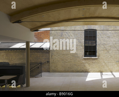 Covered area at the Theatre Royal, Bury St Edmunds, Suffolk. - Stock Photo