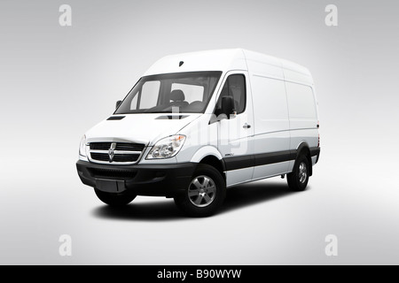 2009 dodge sprinter 2500 cargo high roof in white drivers side stock photo royalty free image. Black Bedroom Furniture Sets. Home Design Ideas