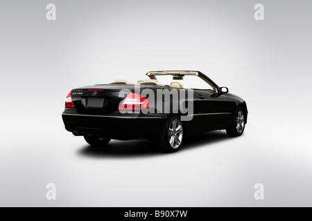 2009 Mercedes-Benz CLK-Class CLK350 in Black - Rear angle view - Stock Photo