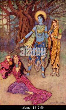 Rama Spurns the Demon Lover - Stock Photo