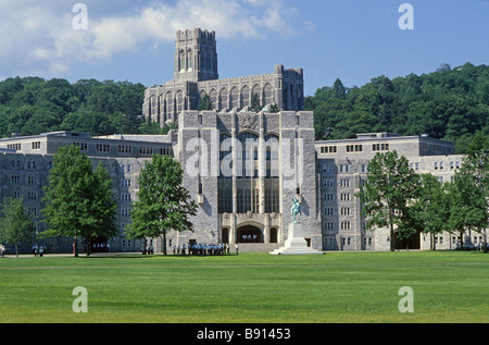 Thayer Hall, West Point Military Academy campus, New York, USA ...