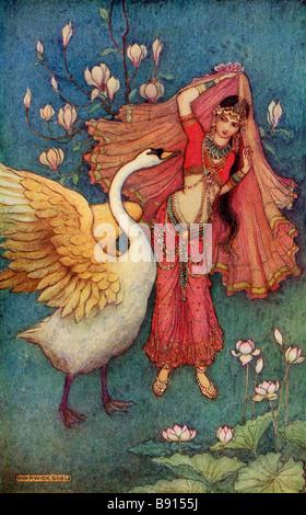 Damayanti and the Swan - Stock Photo