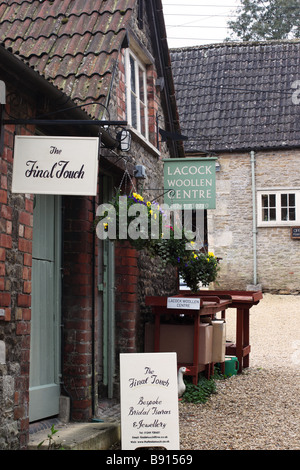 Craft shops in Lacock, Wiltshire - Stock Photo