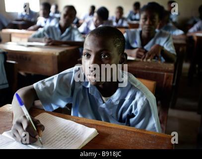 Nigeria: classroom of a secondary school in Maiduguri - Stock Photo
