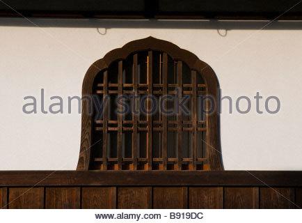 Windown at the Daitokuji temple complex Kyoto Japan - Stock Photo