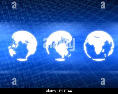 wireframe globe - Stock Photo