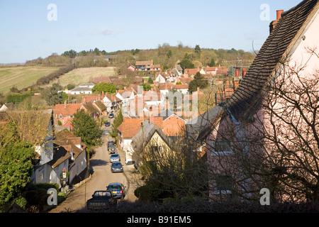 Kersey village Suffolk England - Stock Photo