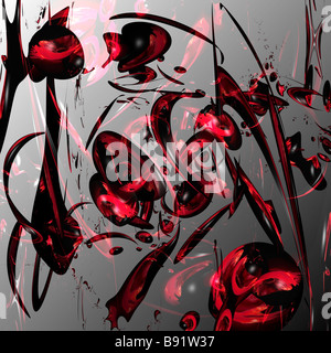 1000 stories of one poppy - abstract illustration. Picture illustrates more than 1000 different objects made of - Stock Photo