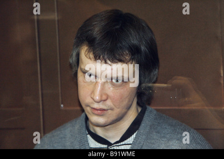 Notorious Bitsa Maniac Alexander Pichushkin found guilty by a jury of 48 murders and three attempted murders hears - Stock Photo