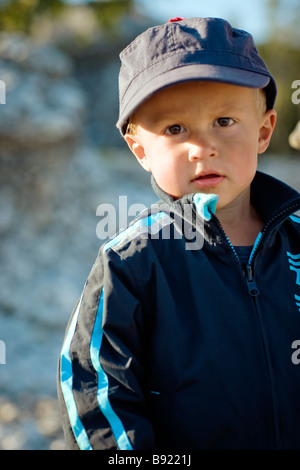 A little boy by the sea Gotland Sweden. - Stock Photo