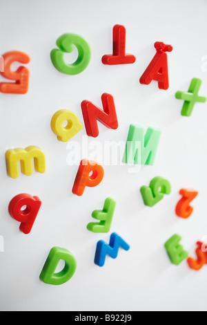 Colorful fridge magnets. - Stock Photo
