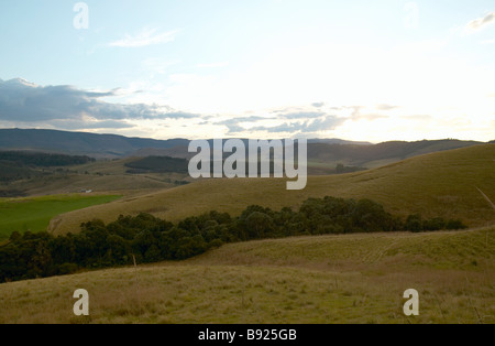 Scenic view of the rolling hills in the Natal Midlands KwaZulu Natal Province South Africa - Stock Photo