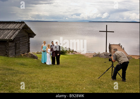 Marriage photography in Dalarna north of Sweden - Stock Photo