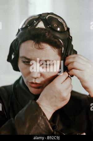 Pilot Marina Popovich - Stock Photo