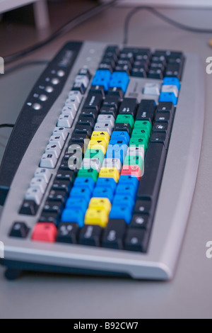 video, equipment, montage, professional, keyboard, pad,  electronic, VCR, board, input, output, color, studio, sampling, - Stock Photo