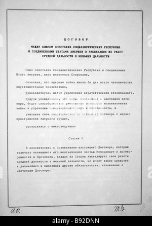 soviet u s inf intermediate range nuclear forces treaty on stock photo royalty free image