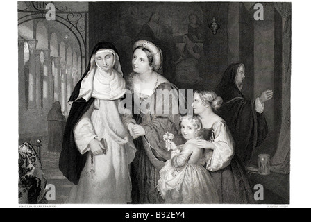 The Visit to the Nun Sir Charles Lock Eastlake English painter gallery director - Stock Photo