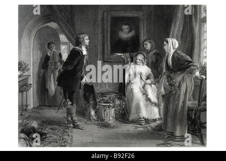 Detected John Callcott Horsley English painter Mistletoe Chair Christmas - Stock Photo