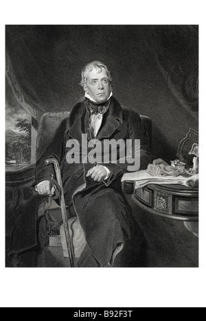 Sir Walter Scott 1771 1832 Scottish historical novelist poet - Stock Photo