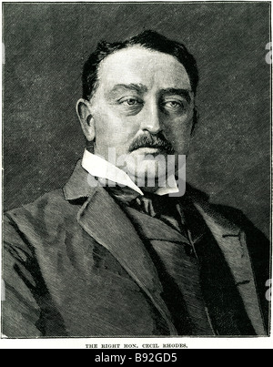 Cecil John Rhodes DCL (5 July 1853 – 26 March 1902) was an English-born businessman, mining magnate, and politician - Stock Photo