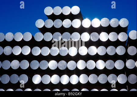 Aluminum rods - Stock Photo