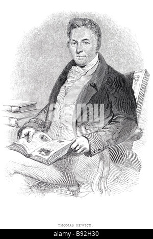 Thomas Bewick (12 August 1753 – 8 November 1828) was an English wood engraver and ornithologist.  Bewick was born - Stock Photo